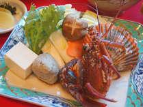【お料理一例】新鮮な魚介類や自家製野菜をご賞味ください