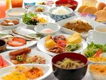 朝食は、山形の郷土料理を中心にした和洋のバイキング!