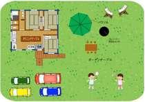 建物とお庭はこんな感じです~