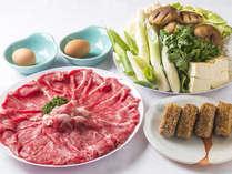 富士山の名水が 育てた極上「朝霧牛」!コテージすき焼きプラン(夕食:朝霧牛すき焼き朝食:バイキング)