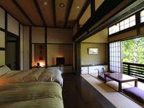 【離れ/特別室和洋室■十石】江戸末期の古民家を移築再生した趣のある上質な和洋室です。
