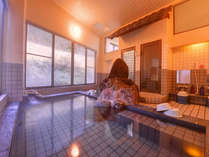 *大浴場/温かい湯船に浸かりながら、自然のぬくもりに心癒されるひと時。