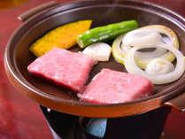 *飛騨牛(お夕食一例)/岐阜県ブランドの飛騨牛をお好みの焼き加減でご賞味下さい。