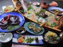 鮮度抜群の生しらすと篠島海の幸を味わえるオススメコース料理です。*