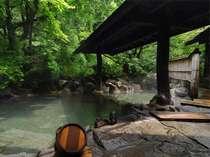 自然のなかでゆっくり入浴を楽しむ