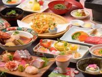 ご夕食の一例(地魚を含むお造り盛合せなど)