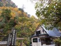壮大な大自然に囲まれた名剣温泉