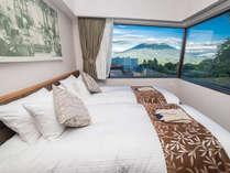 1ベッドルームデラックス-ヨウテイビューのお部屋からは、壮大な羊蹄山が一望できます。