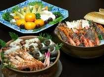 卓盛りプランの料理一例