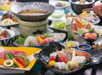 季節の旬会席、料理長が季節に合わせて趣向を凝らした料理をご提供