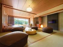 本館和室12帖+ベッド2台 景観と寛ぎの新感覚和洋室【禁煙】イメージ画像