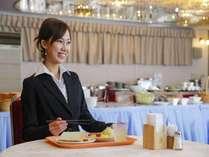 【朝食風景】3F会場にてお客様のお越しをお待ちしております。