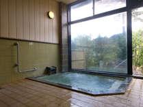 炭酸泉のお風呂は庭園を眺めながらご入浴出来ます。
