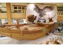 夕食マルスコイのシンボル。CMでおなじみの弁財船。