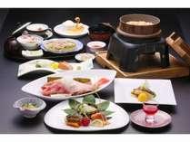 四季折々の地元食材を使った食事処「氷海」の創作和食料理(イメージ)