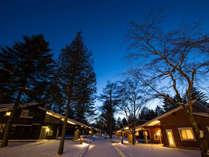 澄み切った夜空が美しい冬