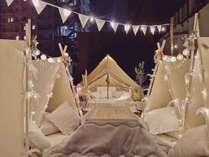 屋上テント&こたつ
