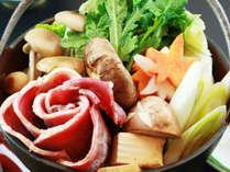 ◆しし鍋◆人気NO.1☆牡丹の花に輝く濃厚味噌仕立て鍋を堪能♪ツヤ肌美人温泉☆24H入浴OK!