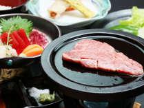 *牛ヒレ肉の陶板焼き*