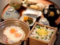 【朝食例】阿蘇の採れ立て卵が評判の朝食