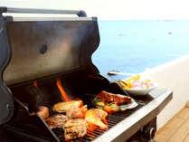 葉山ならではの地産食材や高級な食材を使った本格的なBBQを堪能できます。