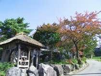 『さゆり荘』の入口春の木々がお出迎え☆