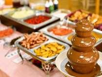 【朝食ハーフバイキング】お子様に大人気のチョコフォンデュもございます♪