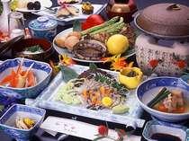あわび会席♪美味快哉◆鮑のお刺身とステーキ各1個