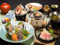 【磯づくし】鮑&磯焼き・海鮮鍋・新鮮な地魚のお造り≪特典付≫