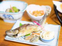 *岩魚など清流で育った川魚も付きます