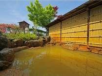 黄金の湯源泉かけ流しの露天風呂