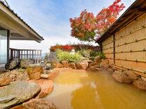 *【露天風呂】秋は紅葉をお楽しみください。大浴場:ながめの湯