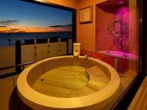 平成22年11月 和室6帖+10帖露天風呂付客室完成! 客室名「いつまでも・・」「かがやき」「あなたと・・」