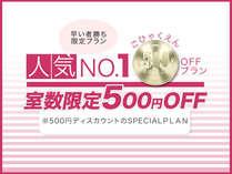 ≪通常より500円OFF≫お得な500円割引特別プラン!