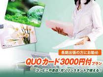【Quoカード3,000円付き】ビジネス出張応援プラン♪