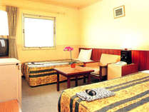 *ツインルーム(一例)カップルやご夫婦にオススメのお部屋です。