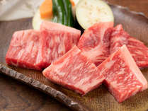 【6,7月限定:5%割引!さらにポイント10%還元】まろやかでとろける味わい!地産和牛の焼肉付き会席プラン