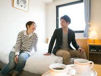 ビジネスはもちろん、カップルやご夫婦での宿泊にもご利用ください♪