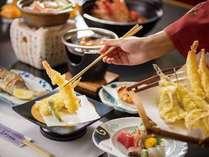 【じゃらん夏SALE】【お値打ち】みかわ牛すき焼き鍋と揚げたて天婦羅、焼魚が人気「いこい膳」