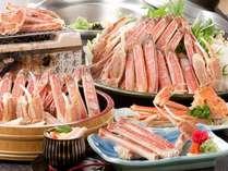 蟹絵巻(11~3月)ゆで蟹、蟹刺身、焼き蟹、蟹すき大鍋他10品の蟹フルコース