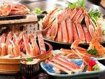 ≪お一人様蟹2杯強の蟹フルコース!!≫蟹刺し・茹で蟹・蟹すき鍋等、蟹料理が7品の『蟹絵巻』【部屋食】