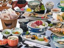 地元素材の味を堪能できる会席料理(10月~3月)(一例)
