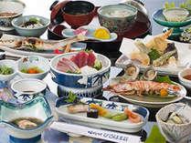 地元素材の味が堪能できる会席料理(4月~9月)(一例)