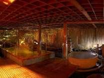湯の川秀逸を誇る庭園大浴場「1階ご婦人方」
