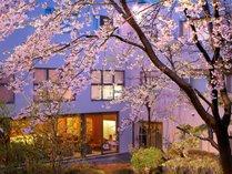 春の庭園風景
