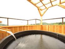 *広がる景色を見ながらのんびりとした時間を。2012年春、貸切露天風呂が誕生!