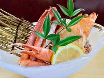 *夕食一例/日本海で獲れた新鮮な海の幸