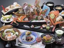 *【夏のグルメコース一例】庄内の旬の食材に料理長が腕を振るった逸品(写真のお刺身は2人前です)。