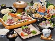 【お盆限定】!皿鉢料理/黒潮豪快焼/冷やしうどんプラン(姿造なし)♪