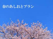 春の訪れを感じる…春限定プランです♪